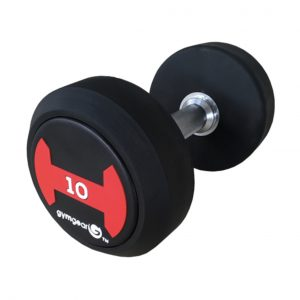 GYM GEAR RUBBER DUMBBELLS PAIR