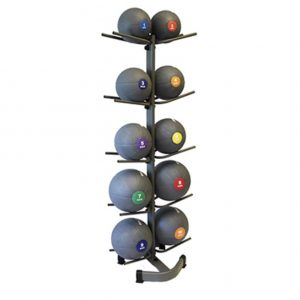 GYM GEAR DOUBLE SIDED 10 MEDICINE/ SLAM BALL STAND