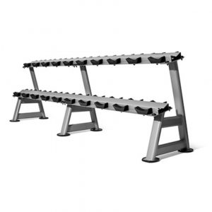 GYM GEAR 2 TIER DUMBBELL STORAGE RACK 10 PAIRS