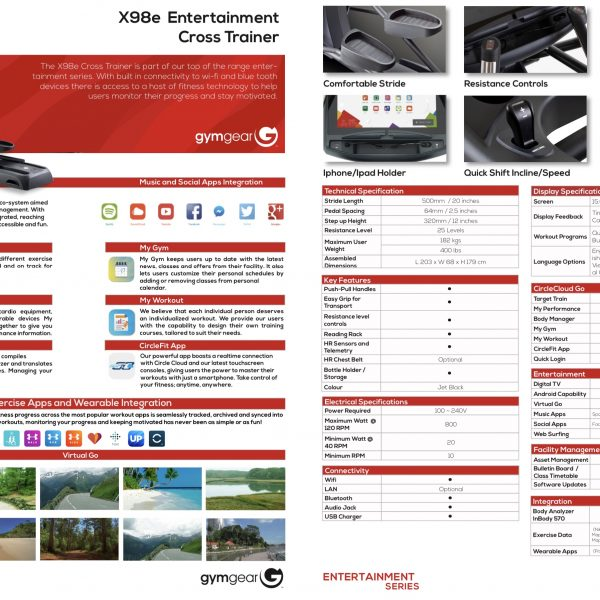 GYMGEAR X98e CROSS TRAINER
