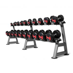 GYM GEAR 2 TIER DUMBBELL STORAGE RACK 12 PAIRS