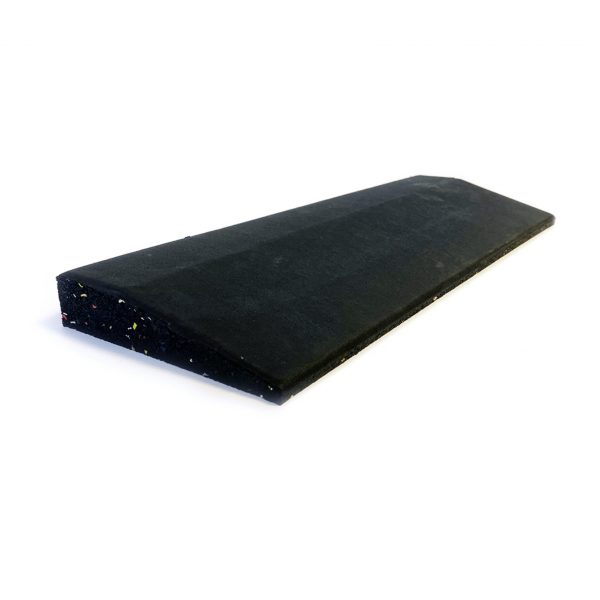 GYM GEAR BLACK RUBBER RAMPED EDGE 50CM X 15CM