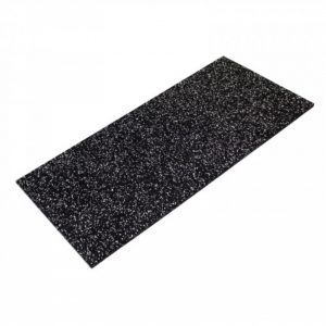 GYM GEAR GREY FLECK RUBBER TILE 1M X 0.5M