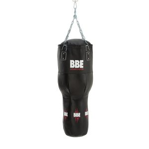 BBE CLUB LEATHER 110CM UPPERCUT PUNCH BAG WITH CHAINS AND SWIVEL
