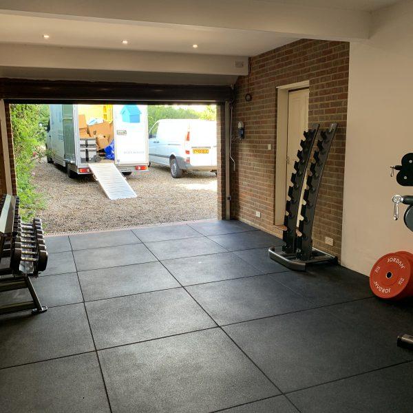 Cannons 1m x 1m Rubber Tile Flooring