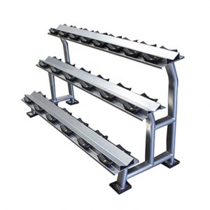 GYM GEAR 3 TIER DUMBBELL STORAGE RACK 10 PAIRS