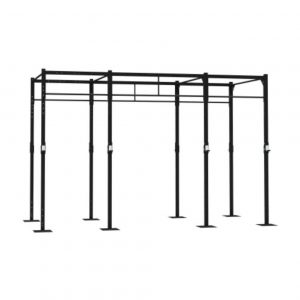 GYM GEAR 4 STATION FREE STANDING SQUAT RIG WITH 2 EXTENSIONS