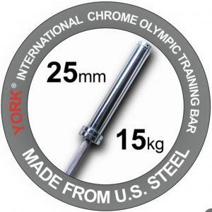YORK 6.5' WOMAN'S INTERNATIONAL CHROME OLYMPIC BAR