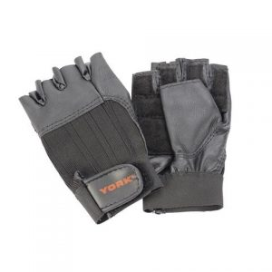 YORK FITNESS LEATHER WEIGHTLIFTING GLOVES