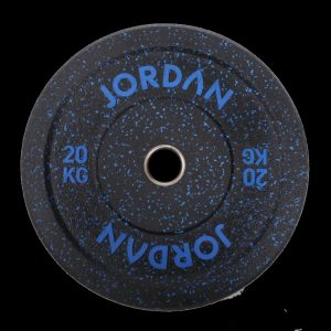 JORDAN HG BLACK RUBBER BUMPER PLATES – COLOURED FLECK
