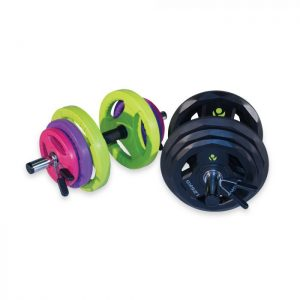 PHYSICAL COMPANY RUBBER DUMBBELL SET
