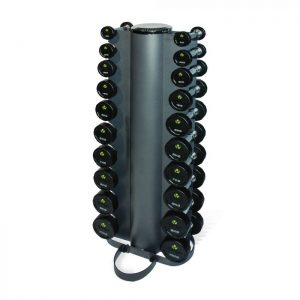 PHYSICAL COMPANY 10 PAIR VERTICAL DUMBBELL RACK
