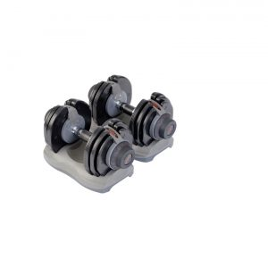 1 ADJUSTABLE DUMBBELL SET INC. STAND – 2.5KG-17.5KG