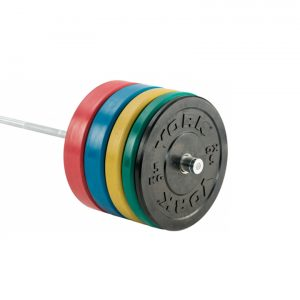 YORK 170KG OLYMPIC COLOURED RUBBER BUMPER PLATE SET