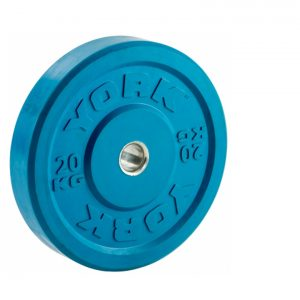 YORK OLYMPIC RUBBER COLOURED BUMPER PLATES 10KG – 25KG